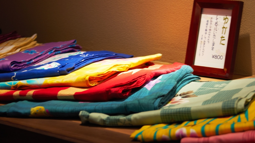 ・女性のお客様には有料で色浴衣のレンタルがございます(800円)