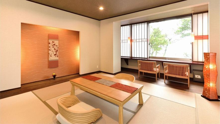 ・【和モダン・恋灯りの間・和室】現代生活にマッチした明るい和室です