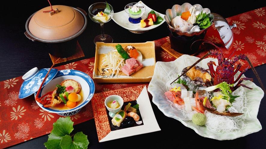 ・【夕食一例】三重の食材をふんだんに使用したお料理
