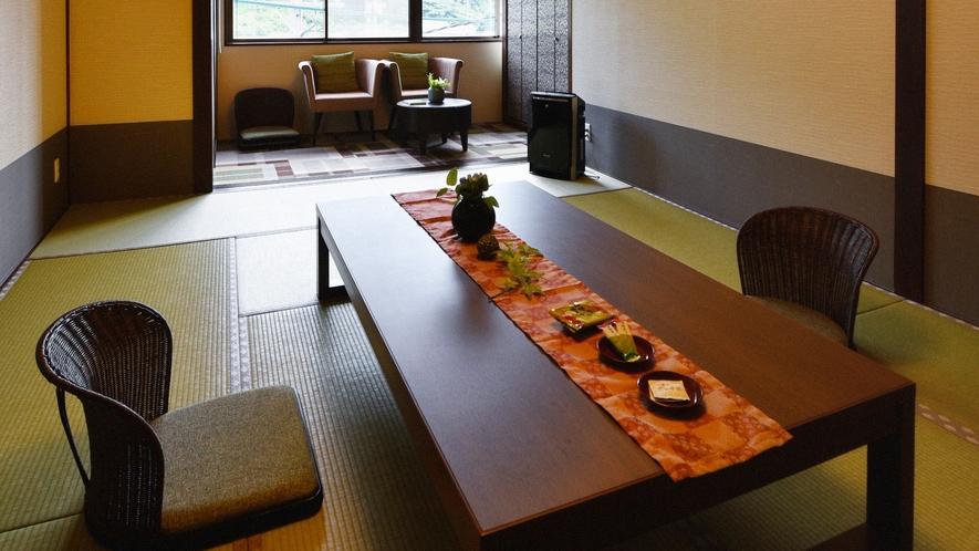 ・【一般客室一例】和室8~12畳のお部屋です。華美な装飾を排したシンプルなインテリア