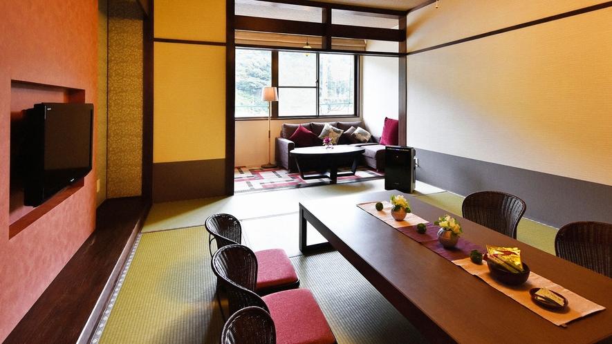・【一般客室一例】和室8~12畳のお部屋です。現代的な和の佇まい
