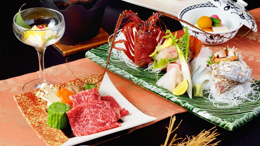 ・【夕食一例】三重県の山海の幸をご堪能ください