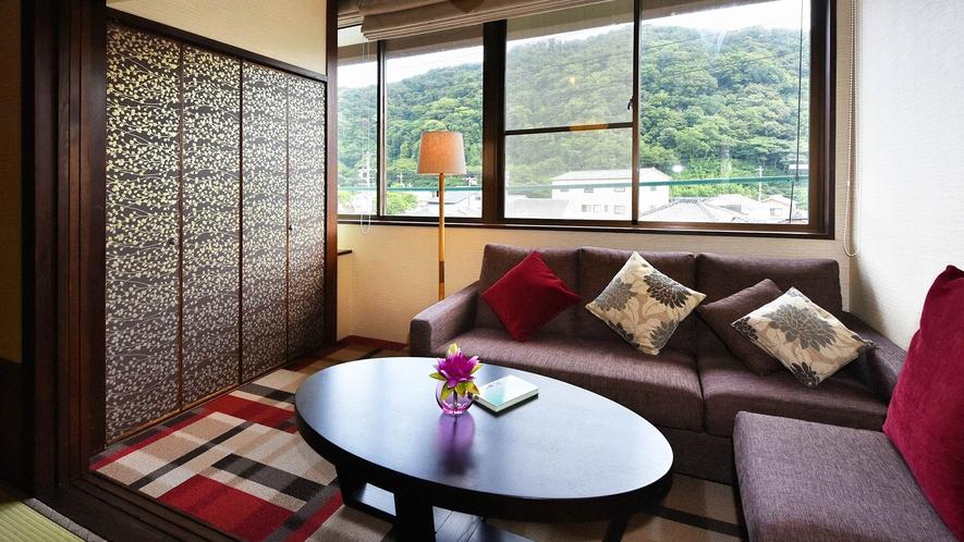 ・【一般客室一例】和室8~12畳のお部屋です。シンプルで居心地のよい空間