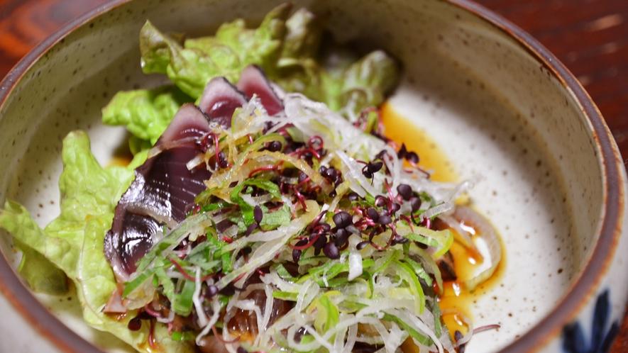 *海鮮サラダ(夕食一例)