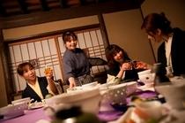 お食事処「寿楽亭」で楽しい夕食