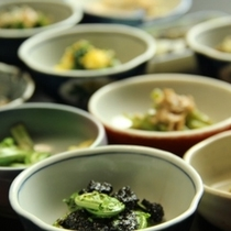 山菜料理小鉢