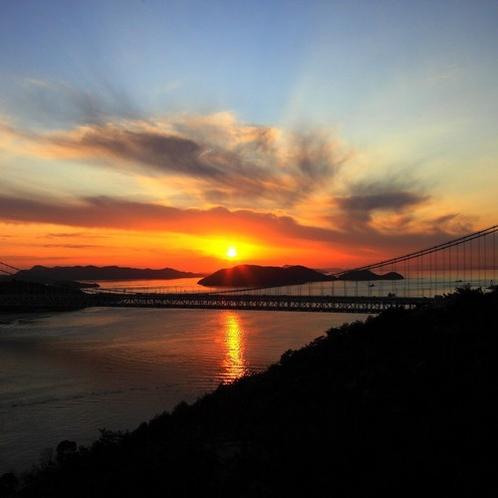 鷲羽山からの夕日