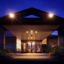 ホテルエントランス・夜