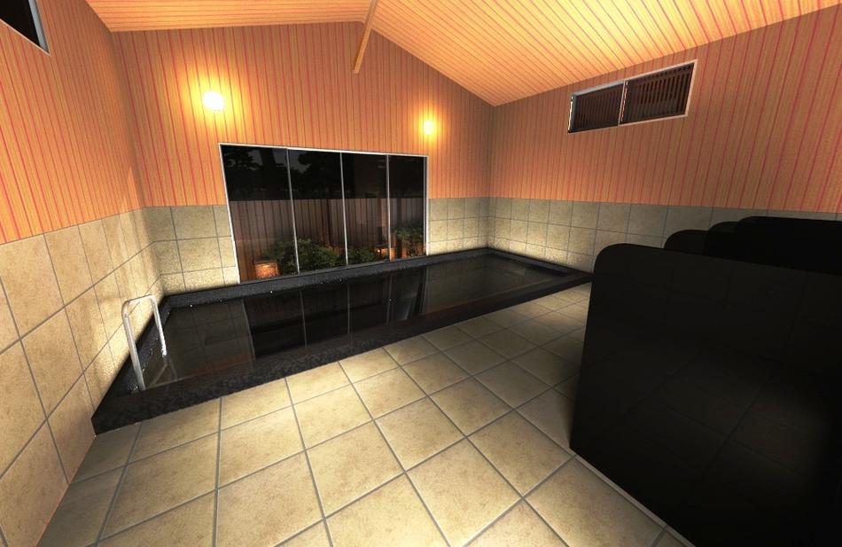 大浴場『岩間の湯』12年夏に完成♪岩間寺から湧き出るラジウム温泉