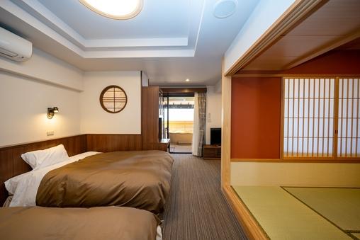 [本館]最も広い露天風呂付和洋室 66m2 車椅子対応