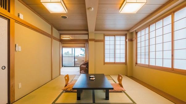 [本館]露天風呂付和室〔10畳+6畳〕46m2 二間続 海側