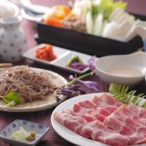 夕食 豚しゃぶ&蕎麦食べ放題3