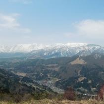 小谷村 眺望の郷からの眺め