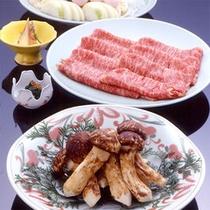松茸&伊賀牛のすき焼き(一例)