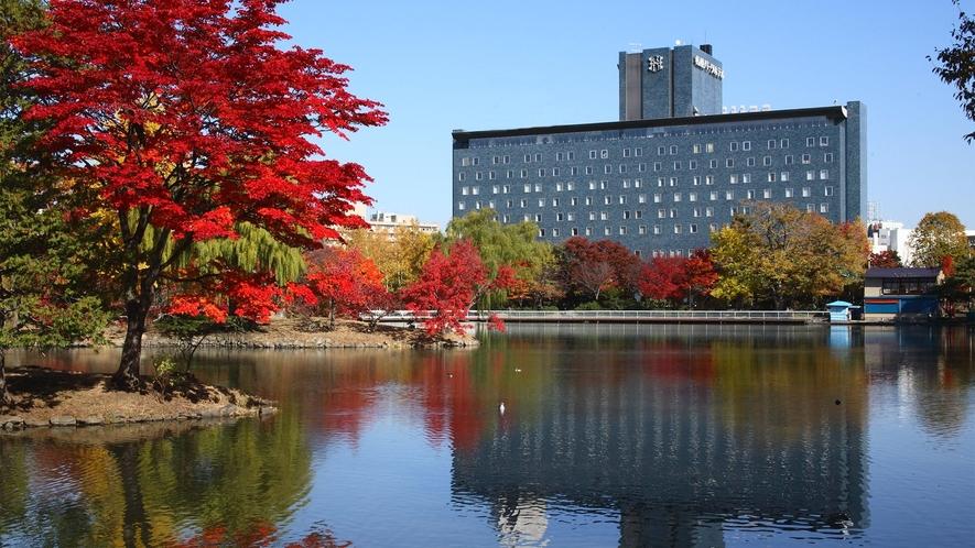 外観裏 秋の紅葉