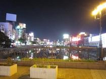 中洲ネオン(出会い橋より)