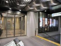 雨の日でも安心♪♪「福岡市営地下鉄」出入口直結