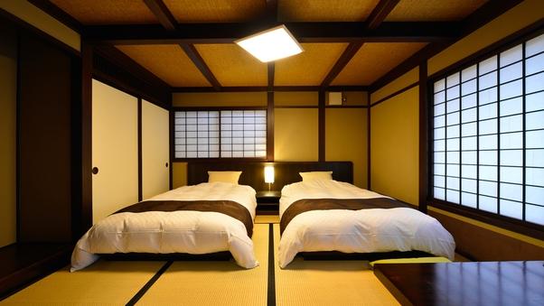 【乗鞍・櫟〜のりくら・くぬぎ】 ツインベッドとリビング付和室