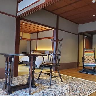 【菊】 二間続きのバリアフリー和洋室ベッドルーム