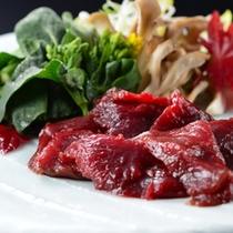 季節料理〜鹿のジンギスカン