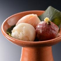 夕食一例〜凌ぎ・手まり寿司