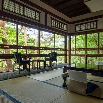 【山荘】五ツ星 角部屋 和洋特別室(半露天風呂付)<会場食>