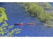四万湖カヌー体験①