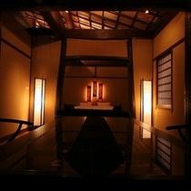 竹の部屋 正面から