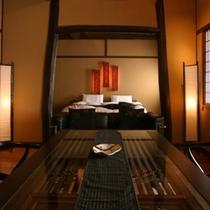 竹の間 リビングから寝室へ