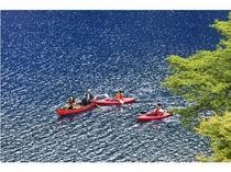 四万湖カヌー体験③