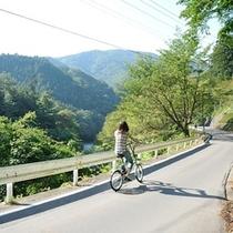 レンタル電動アシスト自転車 奥四万湖