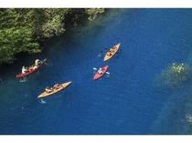 四万湖カヌー体験②