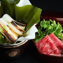 【冬】下仁田葱と上州牛の昆布鍋
