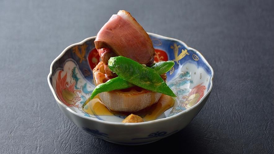 【冬料理】焼菜 鴨のローストて焼蓮根