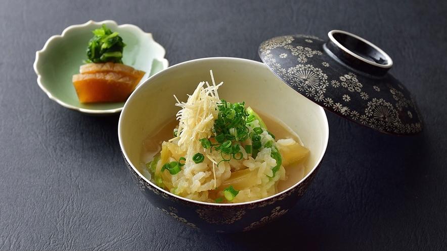 【冬料理】食事 霜降り白菜と牡蠣の埋み豆腐