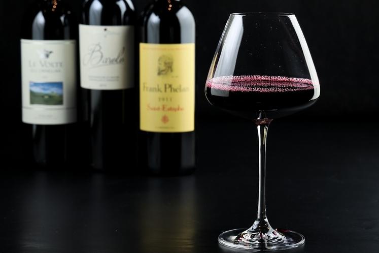 ワインは大きなグラスで