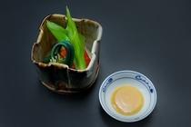 向付 銀光と春草の辛子酢味噌