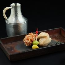 【冬】海老芋の唐揚げと牡蠣のおかき揚げ