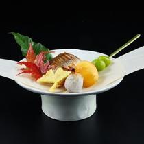 【秋】カマスの柚香焼きと秋の味覚吹き寄せ