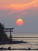 神聖な青島からのぞむ日の出はまさに絶景
