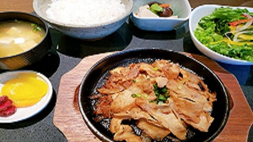 夕食レストラン 生姜焼き定食