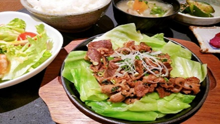 夕食レストラン 焼肉定食