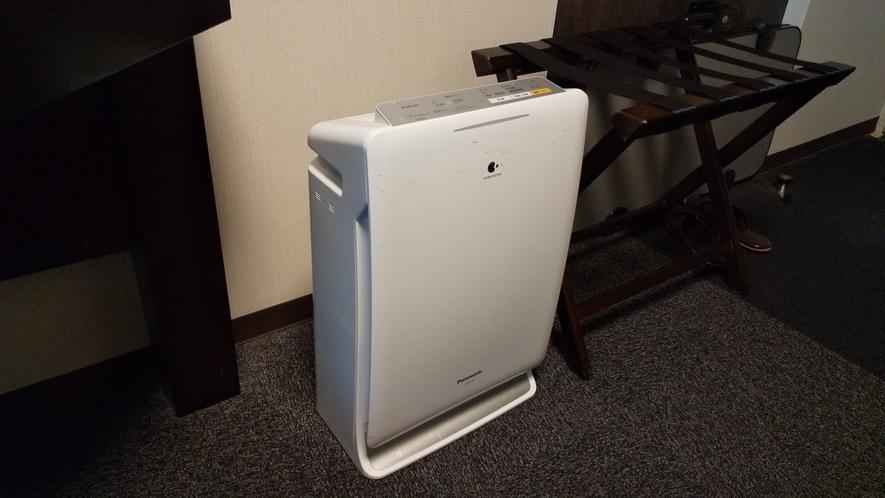 加湿機能付き空気清浄機完備