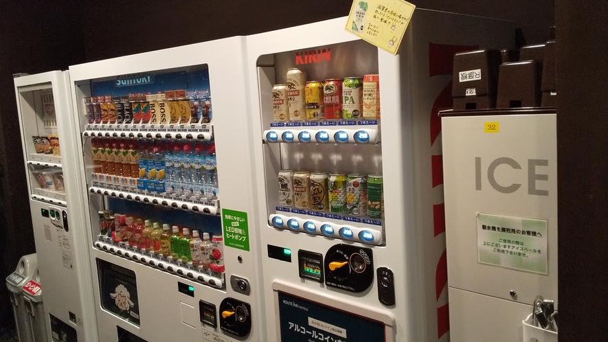 1階 自動販売機、製氷機コーナー