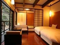 えにしだ コテージの一室一例 全室床暖房で暖かい