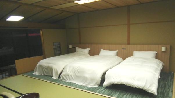 波の音と絶景を愉しむ 数寄屋造特別室『凪亭』トリプルベッド