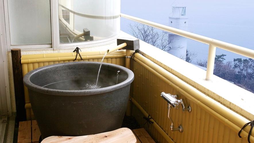 【露天風呂付客室】プライベートな客室露天風呂