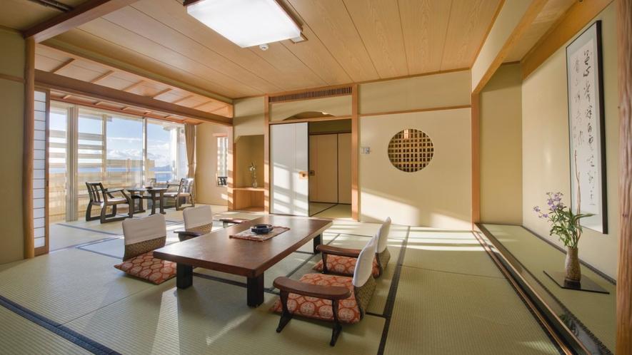 【露天風呂付客室】雄大な三河湾を一望できます