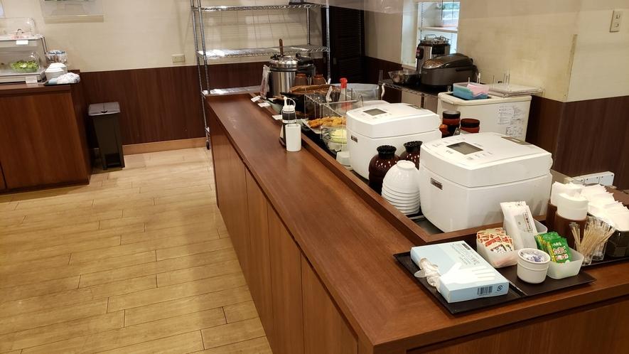 朝食提供ライン(イメージ)