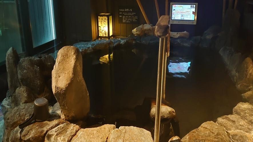 ■大浴場岩風呂■